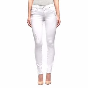 Rock & Republic Mid rise Skinny White Jeans NWT